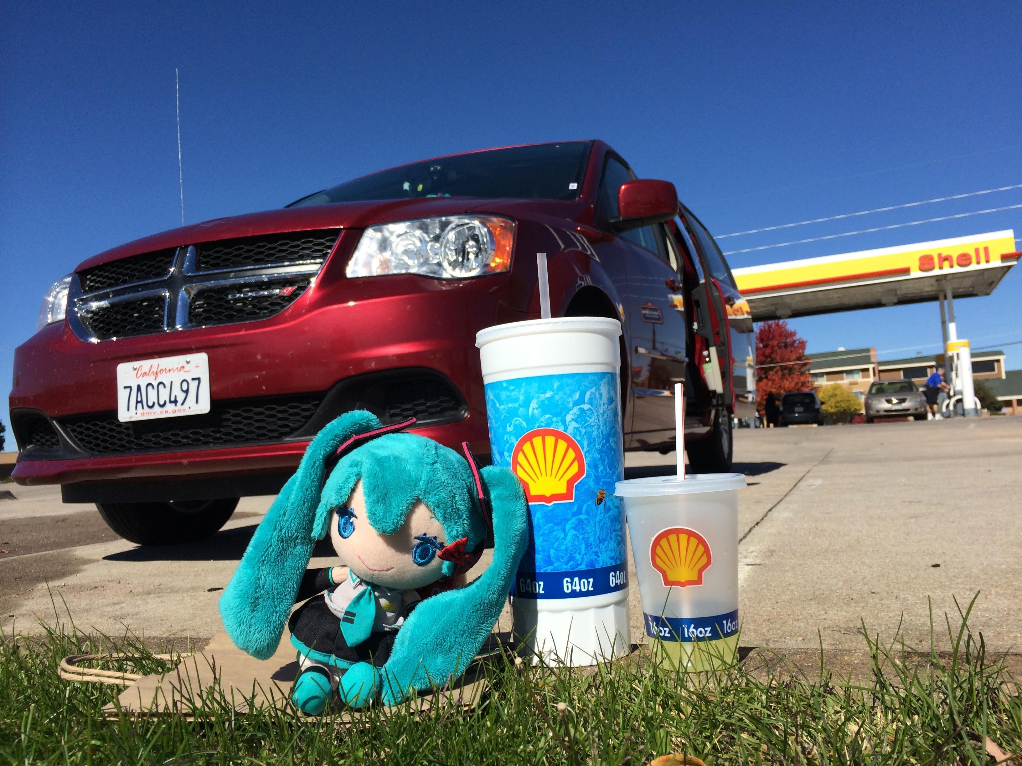 UltraMiku でかい飲み物とレンタカー